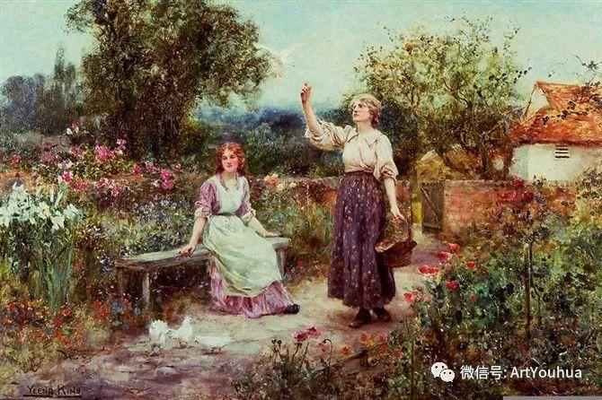 唯美风景油画 英国印象派画家亨利·约翰·耶德金插图6