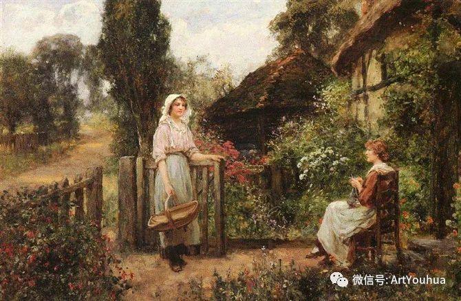 唯美风景油画 英国印象派画家亨利·约翰·耶德金插图7