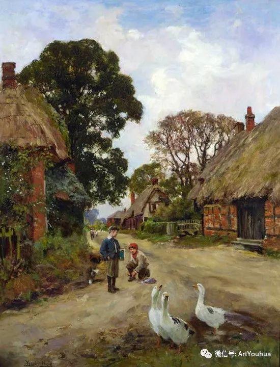 唯美风景油画 英国印象派画家亨利·约翰·耶德金插图8