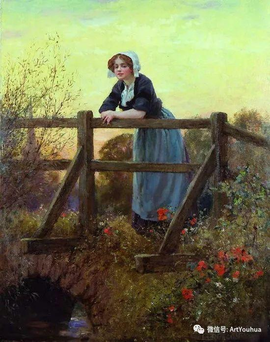 唯美风景油画 英国印象派画家亨利·约翰·耶德金插图9