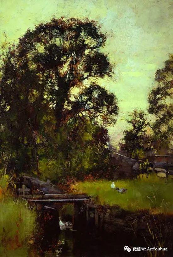 唯美风景油画 英国印象派画家亨利·约翰·耶德金插图10