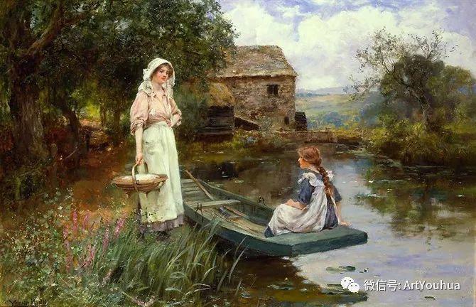 唯美风景油画 英国印象派画家亨利·约翰·耶德金插图11