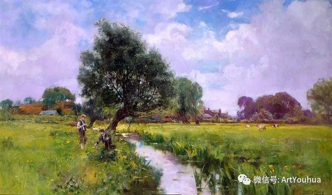唯美风景油画 英国印象派画家亨利·约翰·耶德金插图14