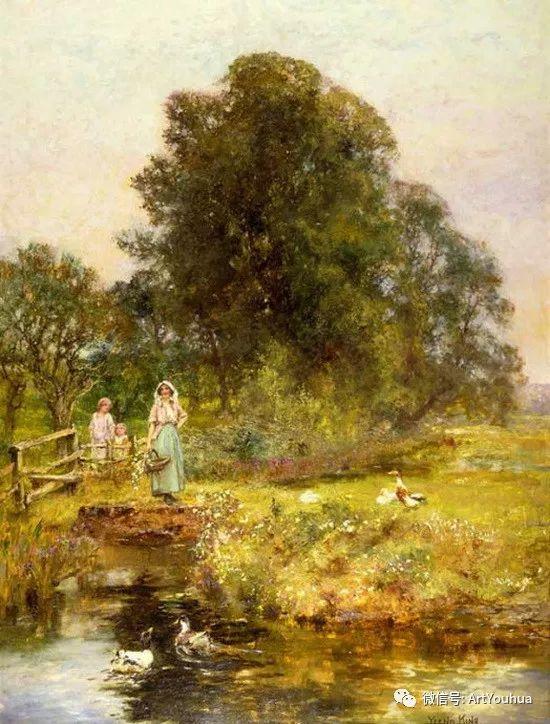 唯美风景油画 英国印象派画家亨利·约翰·耶德金插图15