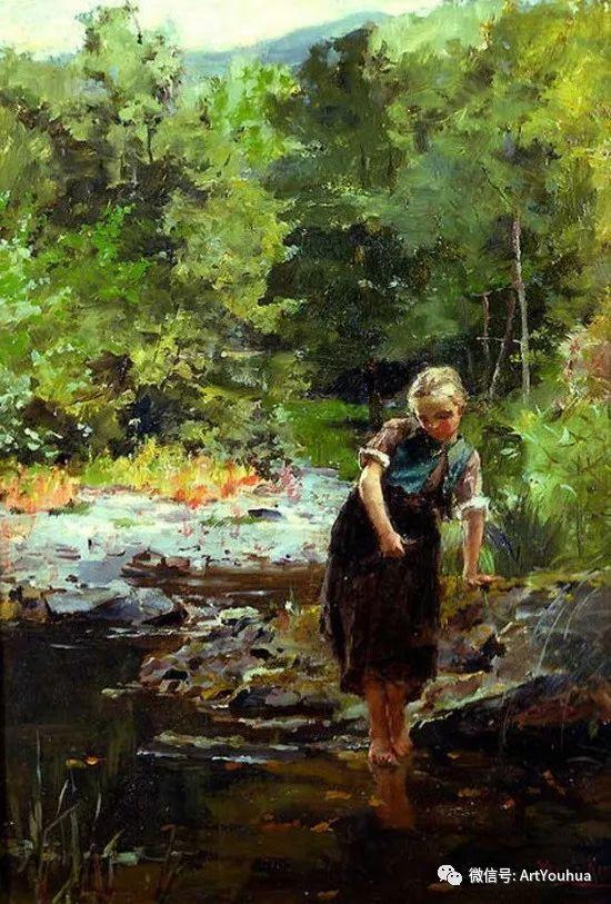 唯美风景油画 英国印象派画家亨利·约翰·耶德金插图16