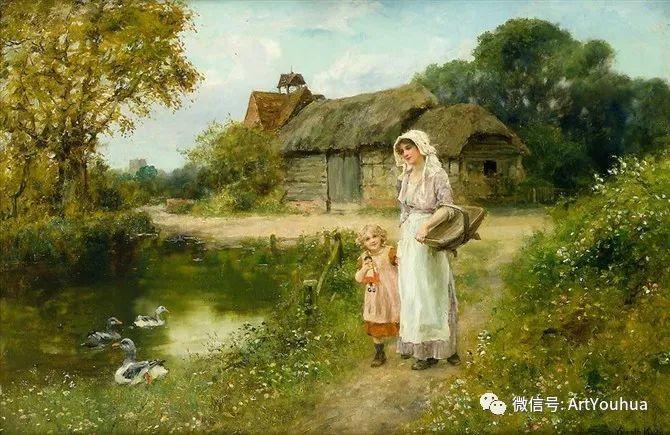 唯美风景油画 英国印象派画家亨利·约翰·耶德金插图17