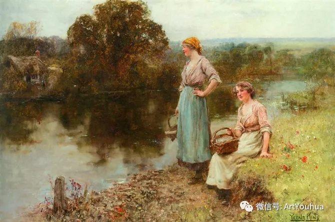 唯美风景油画 英国印象派画家亨利·约翰·耶德金插图18