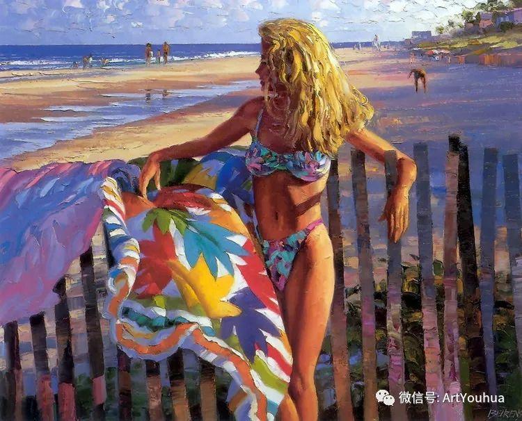 海滩风情油画 美国画家Howard Behrens插图2