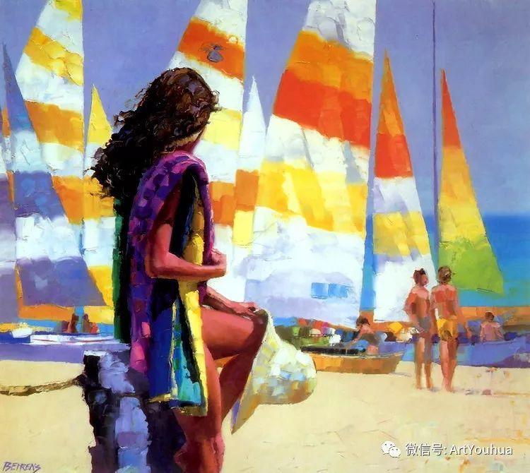 海滩风情油画 美国画家Howard Behrens插图3