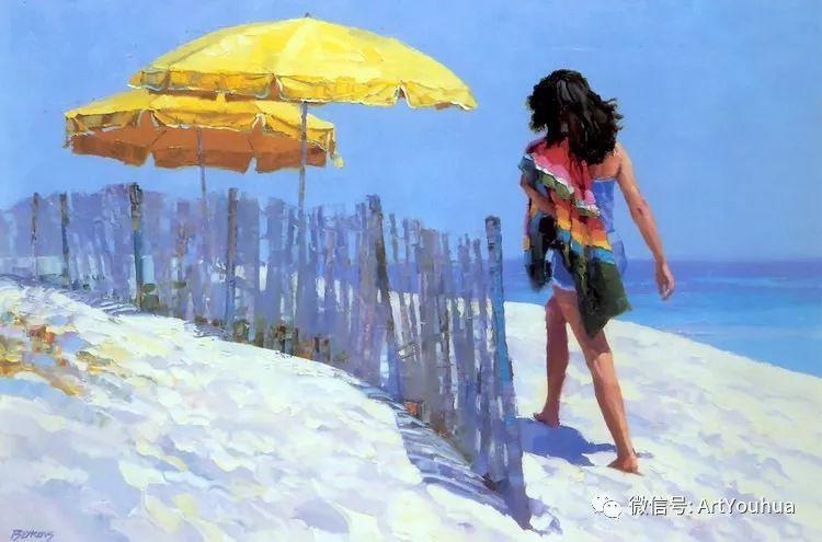 海滩风情油画 美国画家Howard Behrens插图4