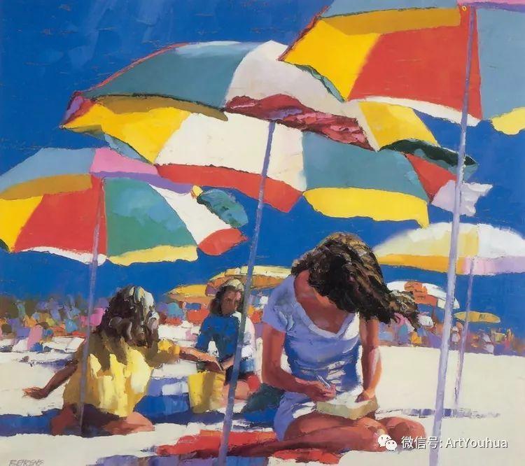 海滩风情油画 美国画家Howard Behrens插图5