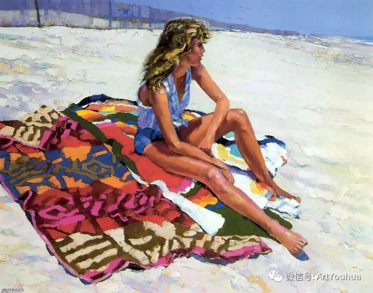 海滩风情油画 美国画家Howard Behrens插图6