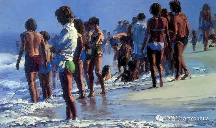 海滩风情油画 美国画家Howard Behrens插图8