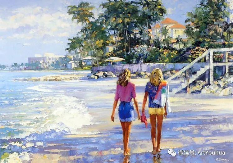 海滩风情油画 美国画家Howard Behrens插图19