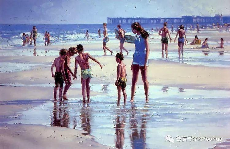 海滩风情油画 美国画家Howard Behrens插图21