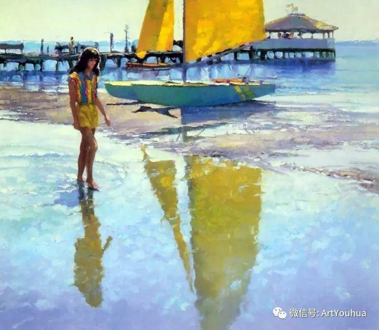 海滩风情油画 美国画家Howard Behrens插图23