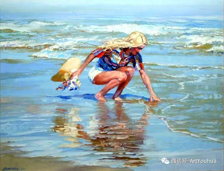海滩风情油画 美国画家Howard Behrens插图25