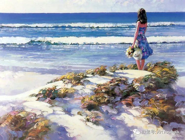 海滩风情油画 美国画家Howard Behrens插图13