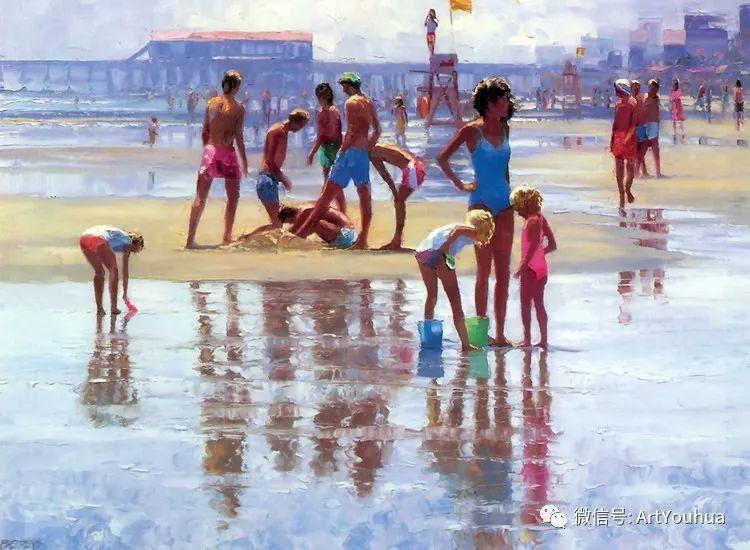 海滩风情油画 美国画家Howard Behrens插图14