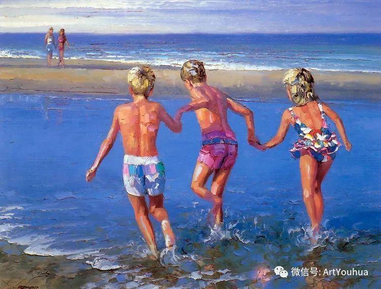 海滩风情油画 美国画家Howard Behrens插图16