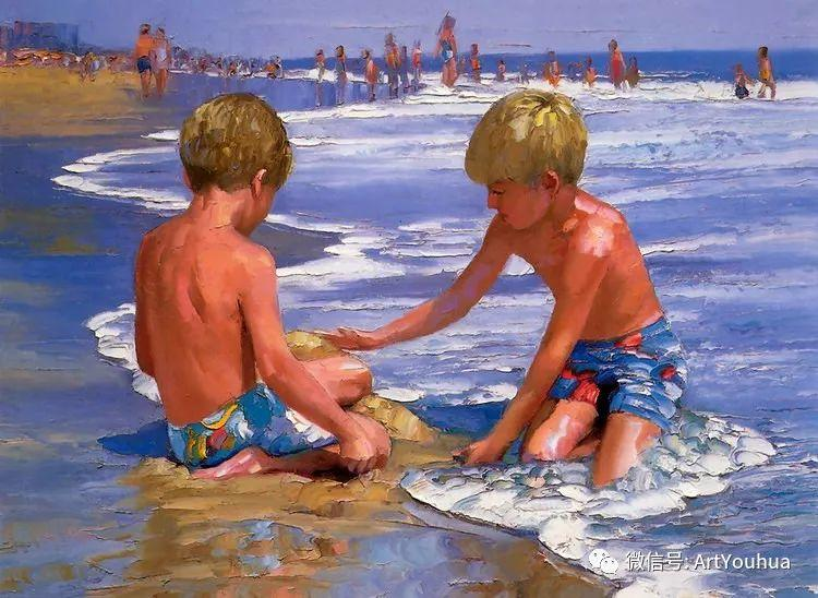 海滩风情油画 美国画家Howard Behrens插图17