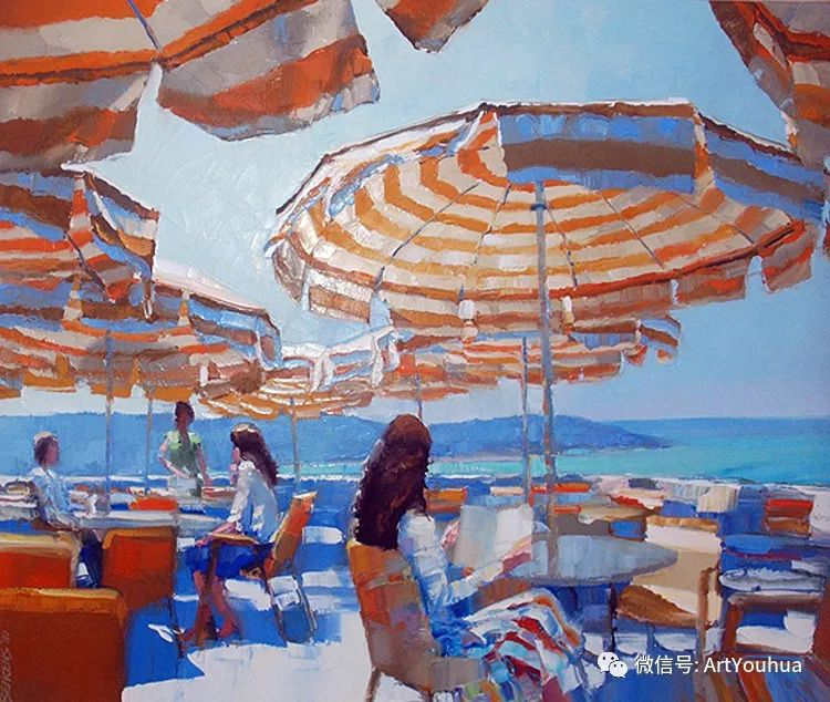 海滩风情油画 美国画家Howard Behrens插图18