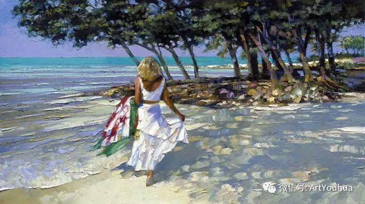 海滩风情油画 美国画家Howard Behrens插图39