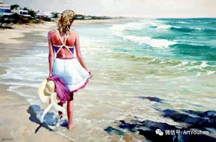 海滩风情油画 美国画家Howard Behrens插图20