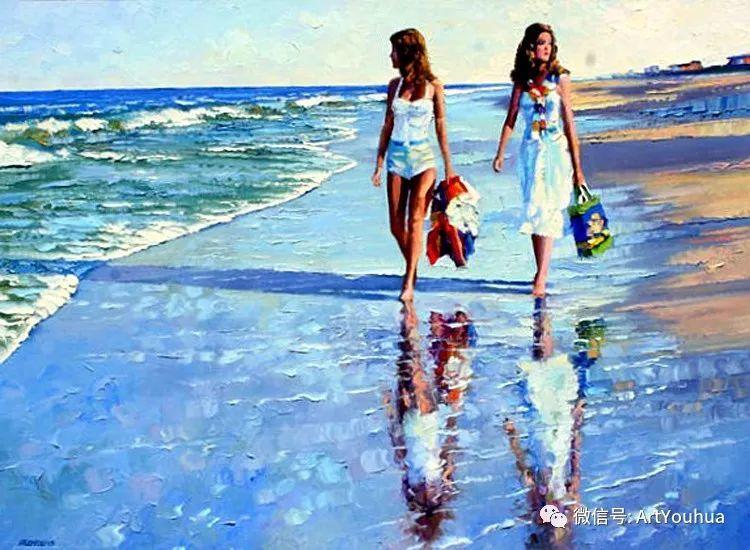 海滩风情油画 美国画家Howard Behrens插图43