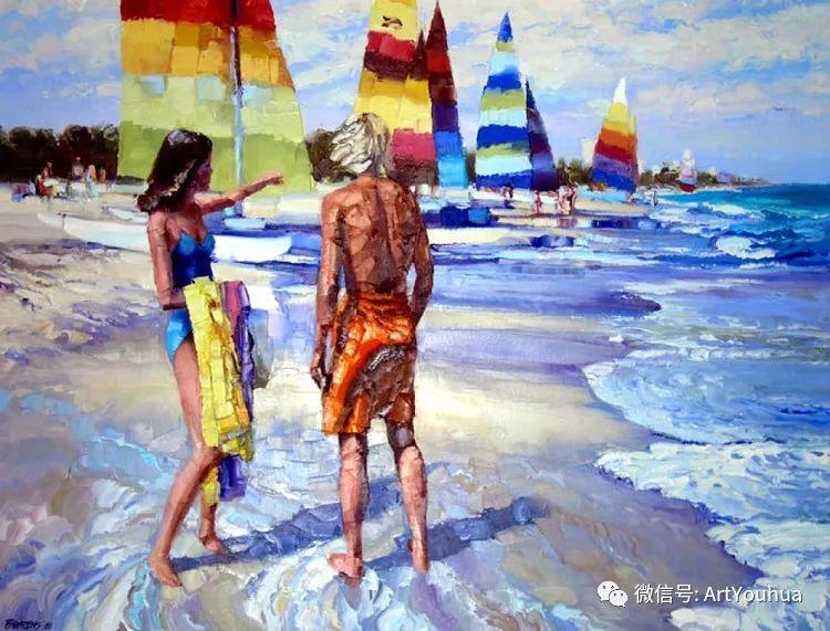 海滩风情油画 美国画家Howard Behrens插图22