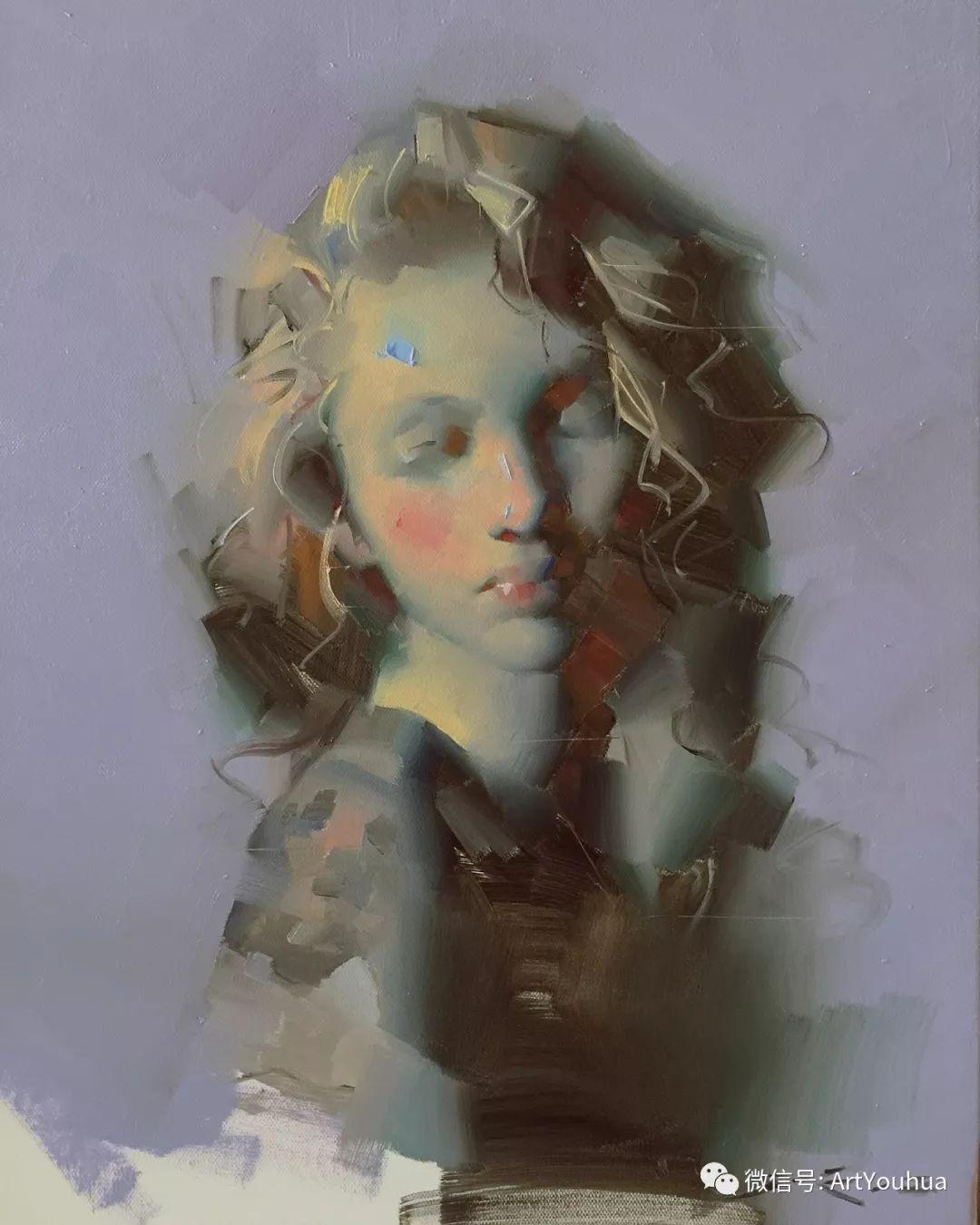 他的人物肖像绘画独具一格 还是位80后画家插图1