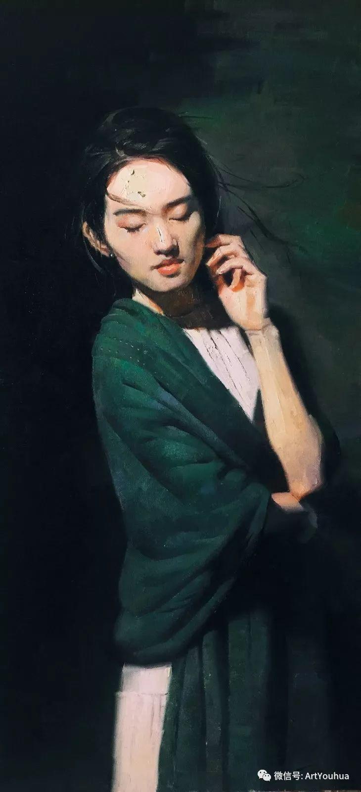 他的人物肖像绘画独具一格 还是位80后画家插图3