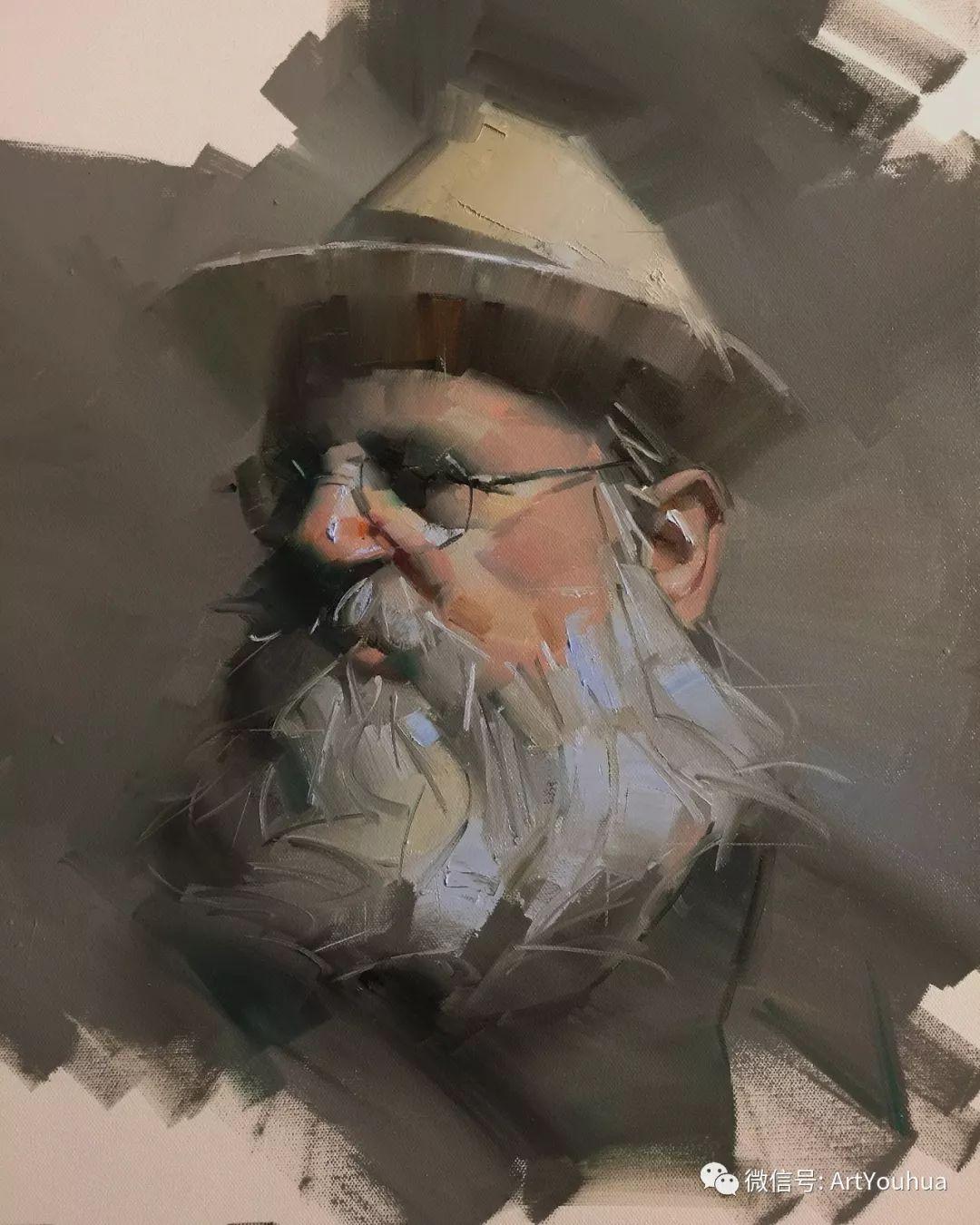 他的人物肖像绘画独具一格 还是位80后画家插图9