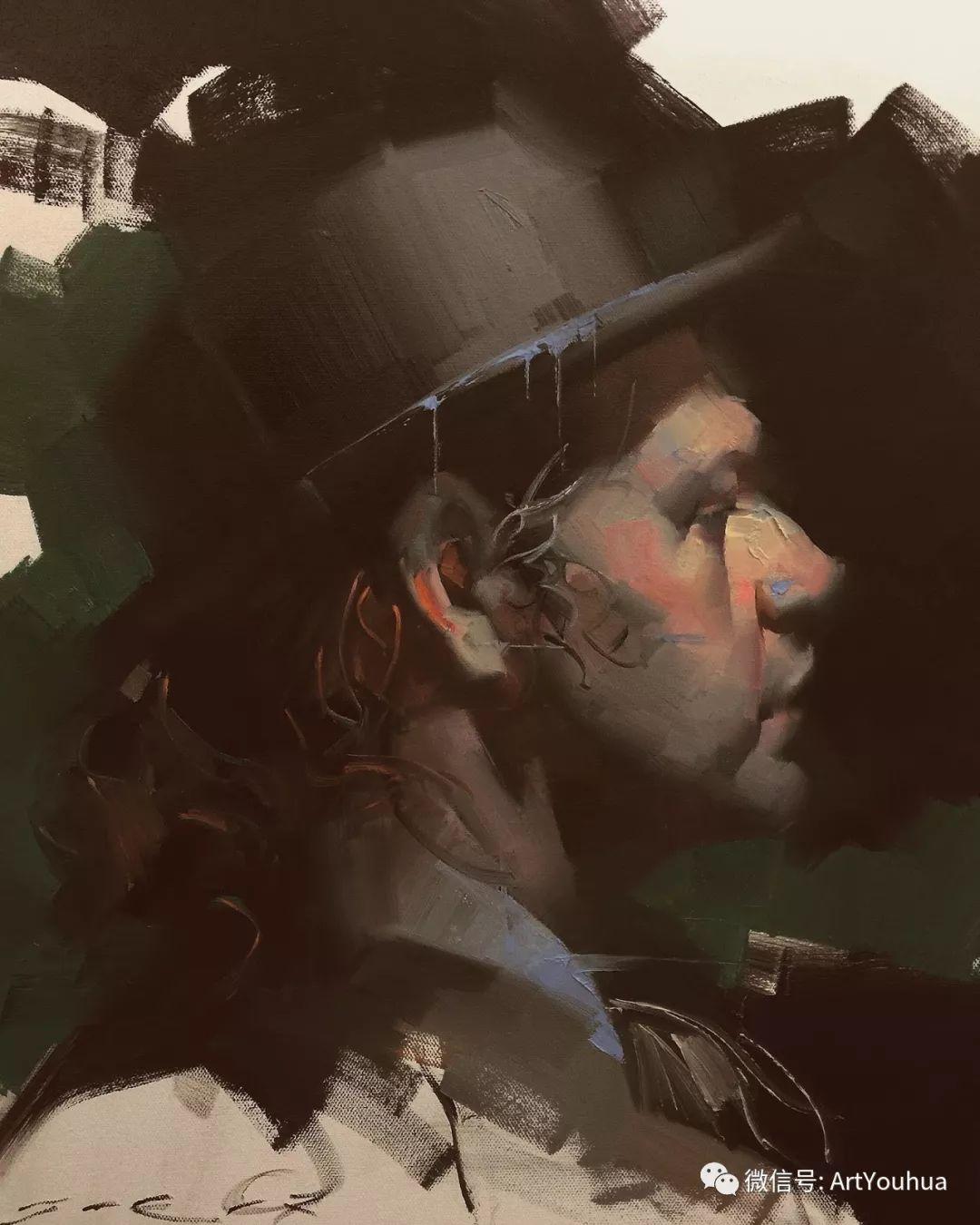 他的人物肖像绘画独具一格 还是位80后画家插图11