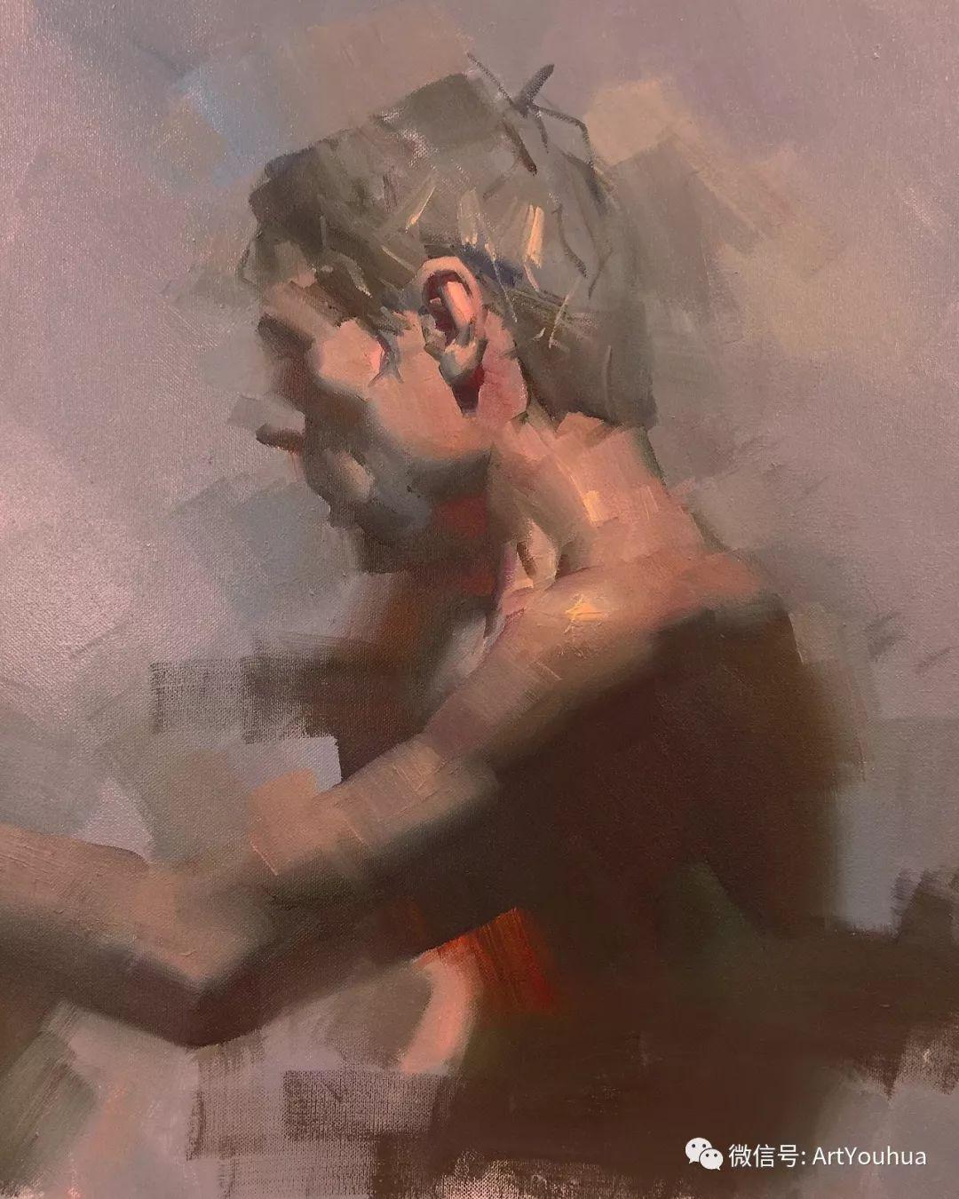 他的人物肖像绘画独具一格 还是位80后画家插图15