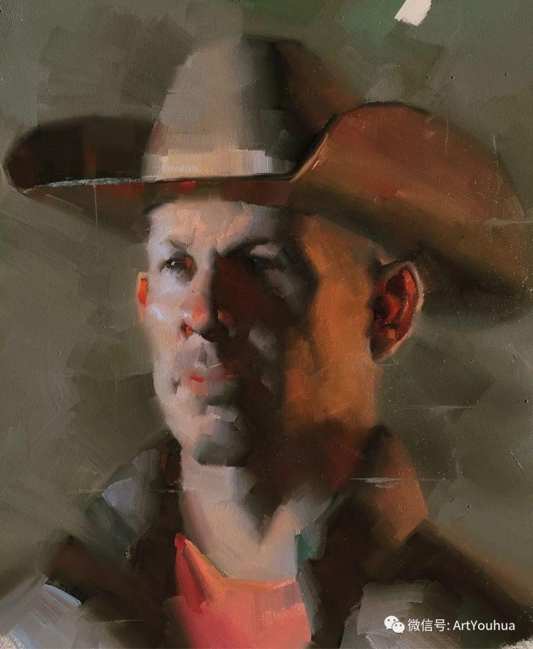 他的人物肖像绘画独具一格 还是位80后画家插图27