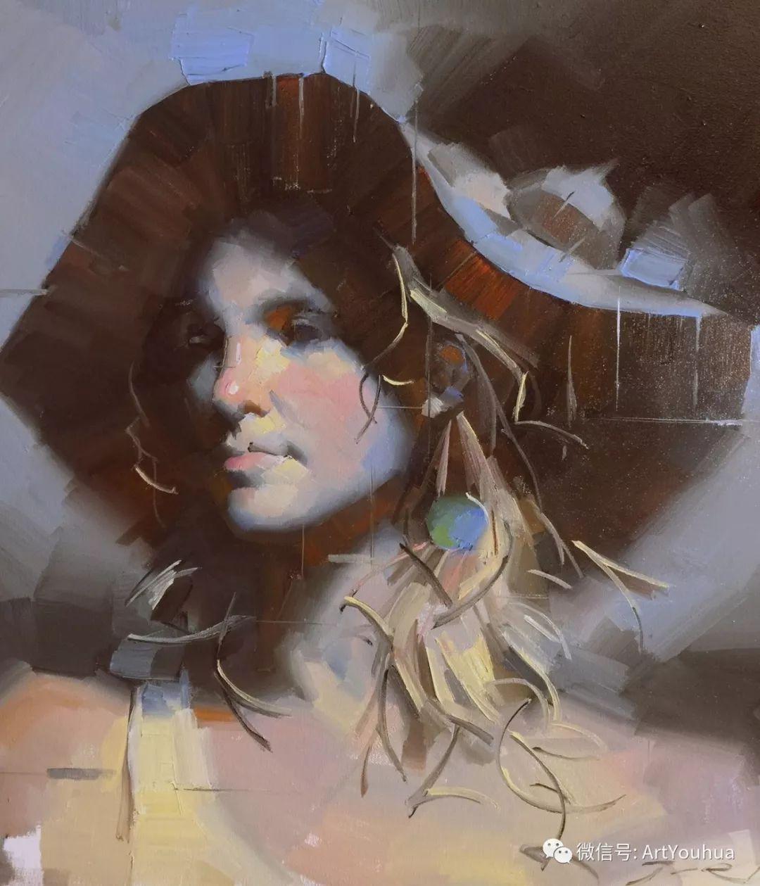 他的人物肖像绘画独具一格 还是位80后画家插图33