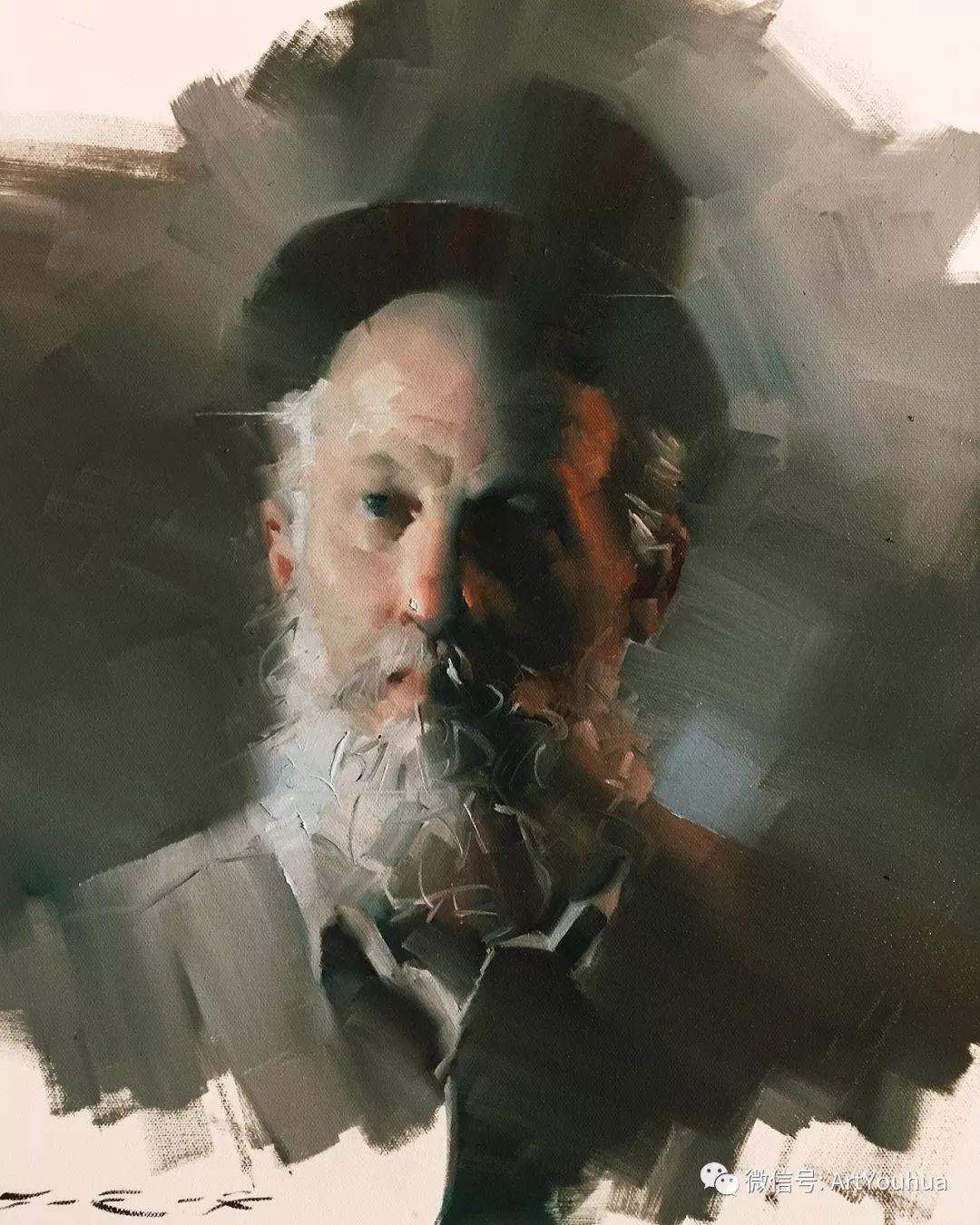 他的人物肖像绘画独具一格 还是位80后画家插图43