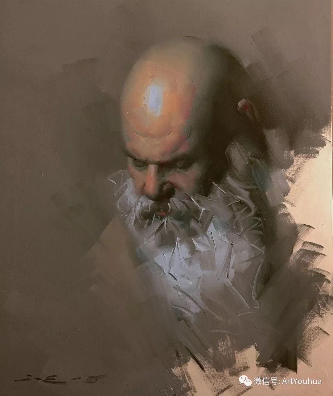 他的人物肖像绘画独具一格 还是位80后画家插图47