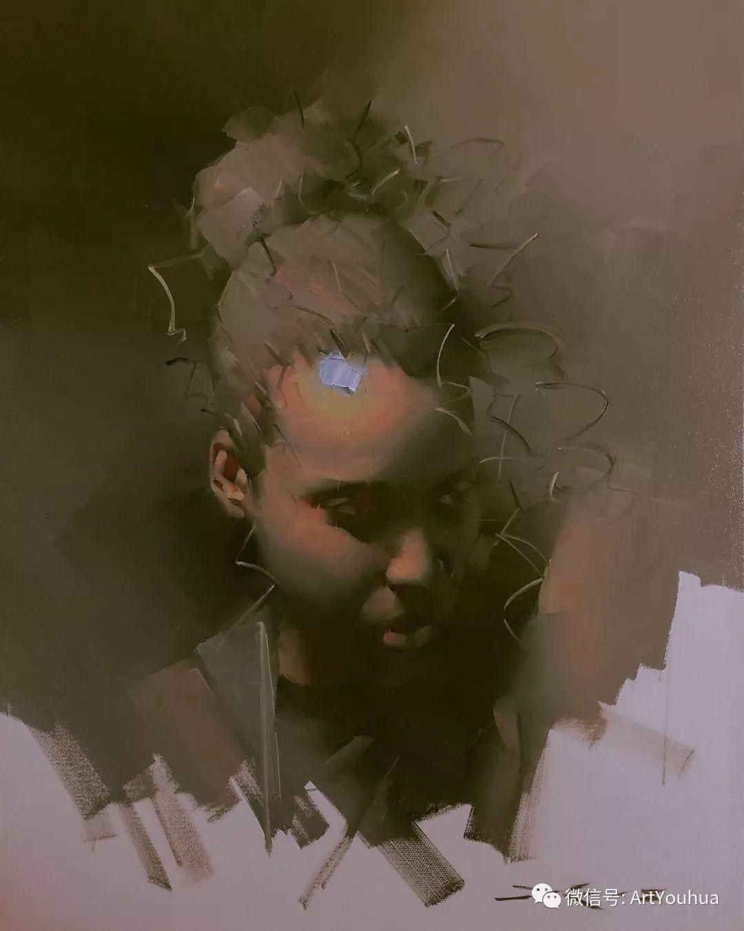 他的人物肖像绘画独具一格 还是位80后画家插图55