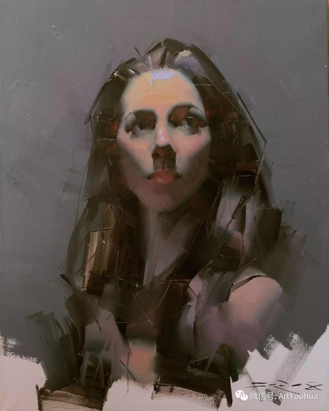 他的人物肖像绘画独具一格 还是位80后画家插图57