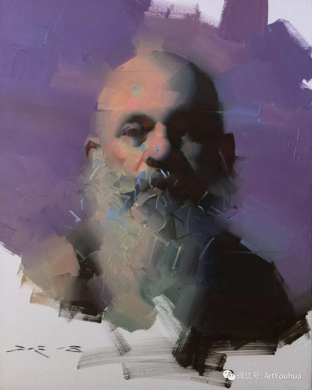 他的人物肖像绘画独具一格 还是位80后画家插图59