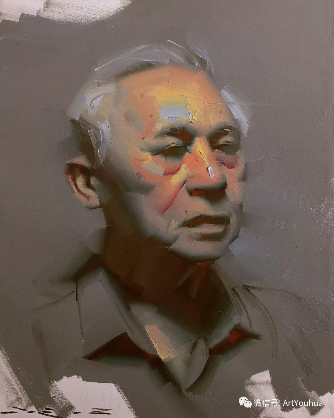他的人物肖像绘画独具一格 还是位80后画家插图69