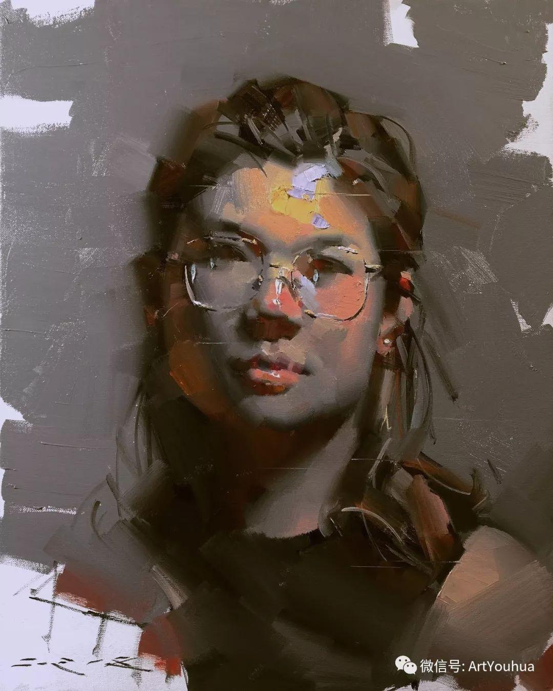 他的人物肖像绘画独具一格 还是位80后画家插图73