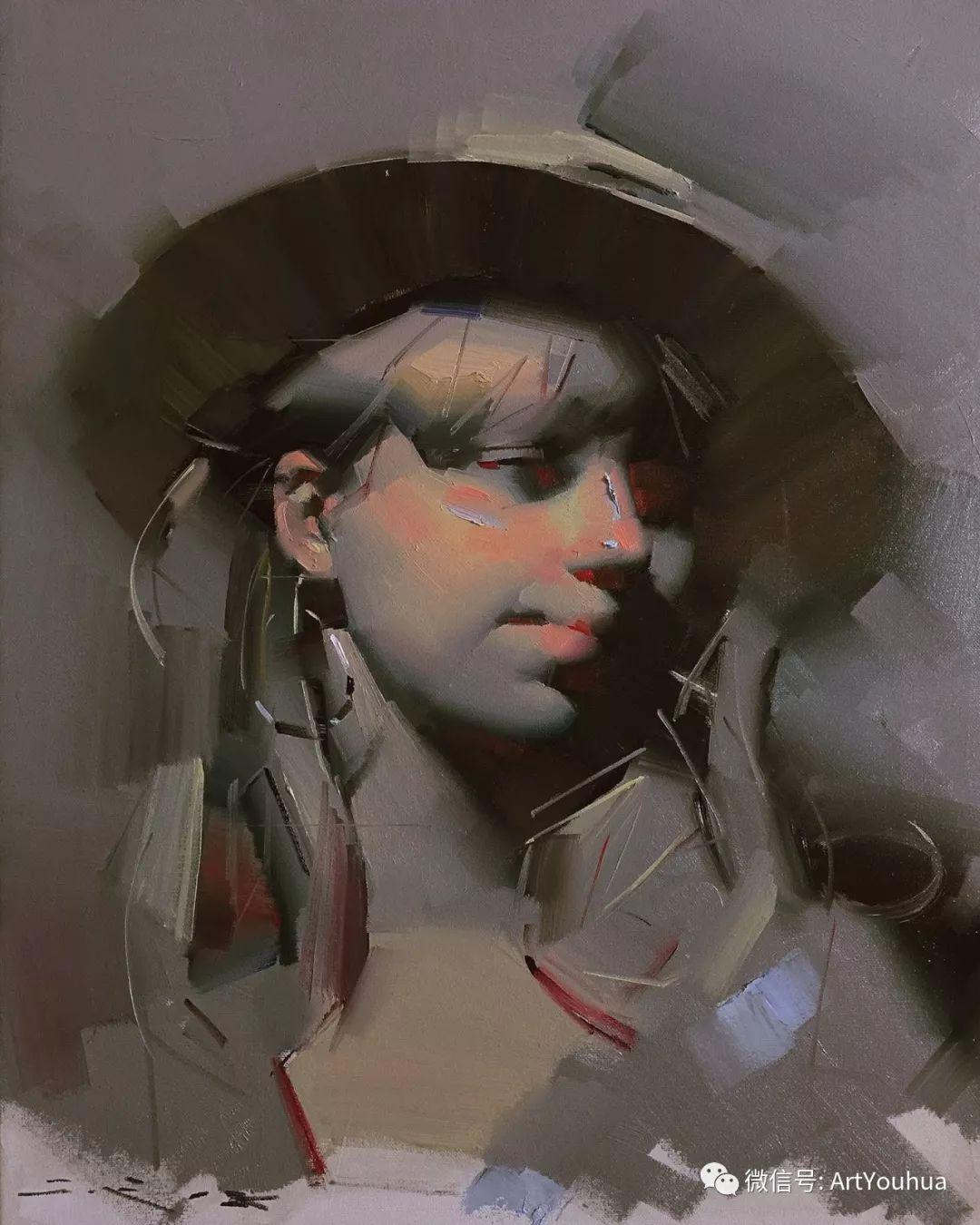他的人物肖像绘画独具一格 还是位80后画家插图77