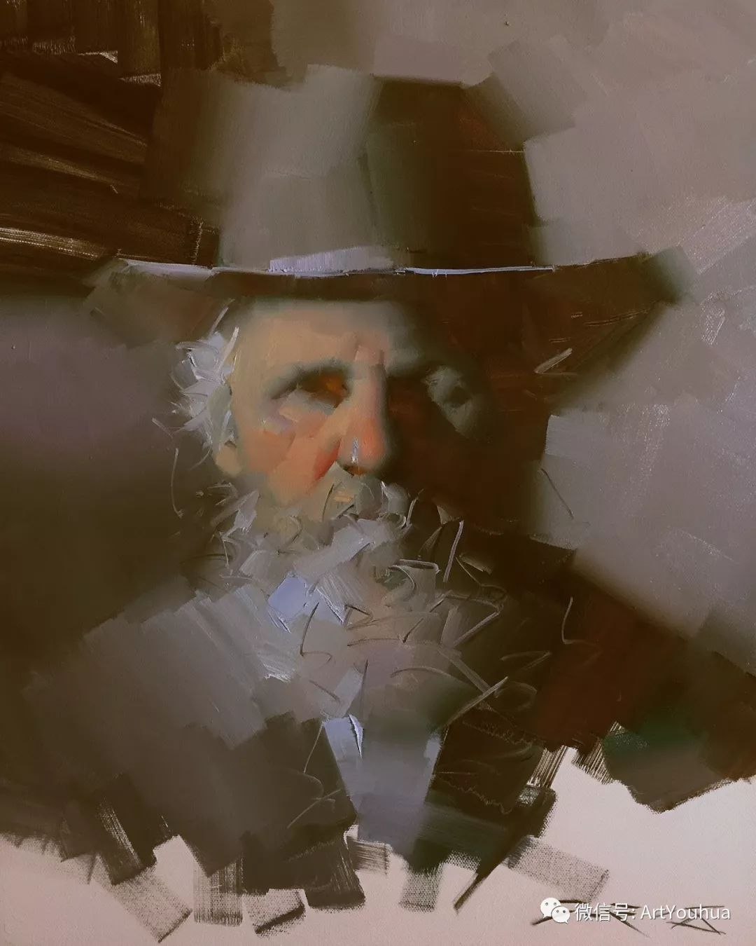 他的人物肖像绘画独具一格 还是位80后画家插图79
