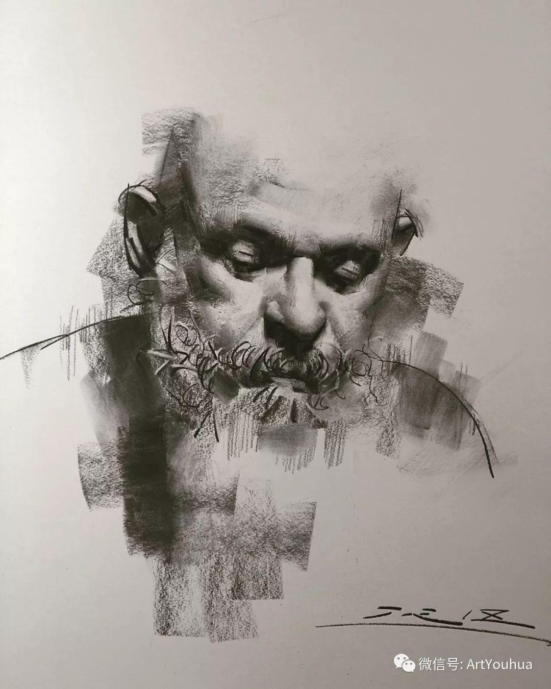 他的人物肖像绘画独具一格 还是位80后画家插图83
