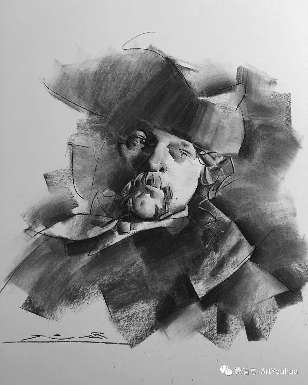 他的人物肖像绘画独具一格 还是位80后画家插图85