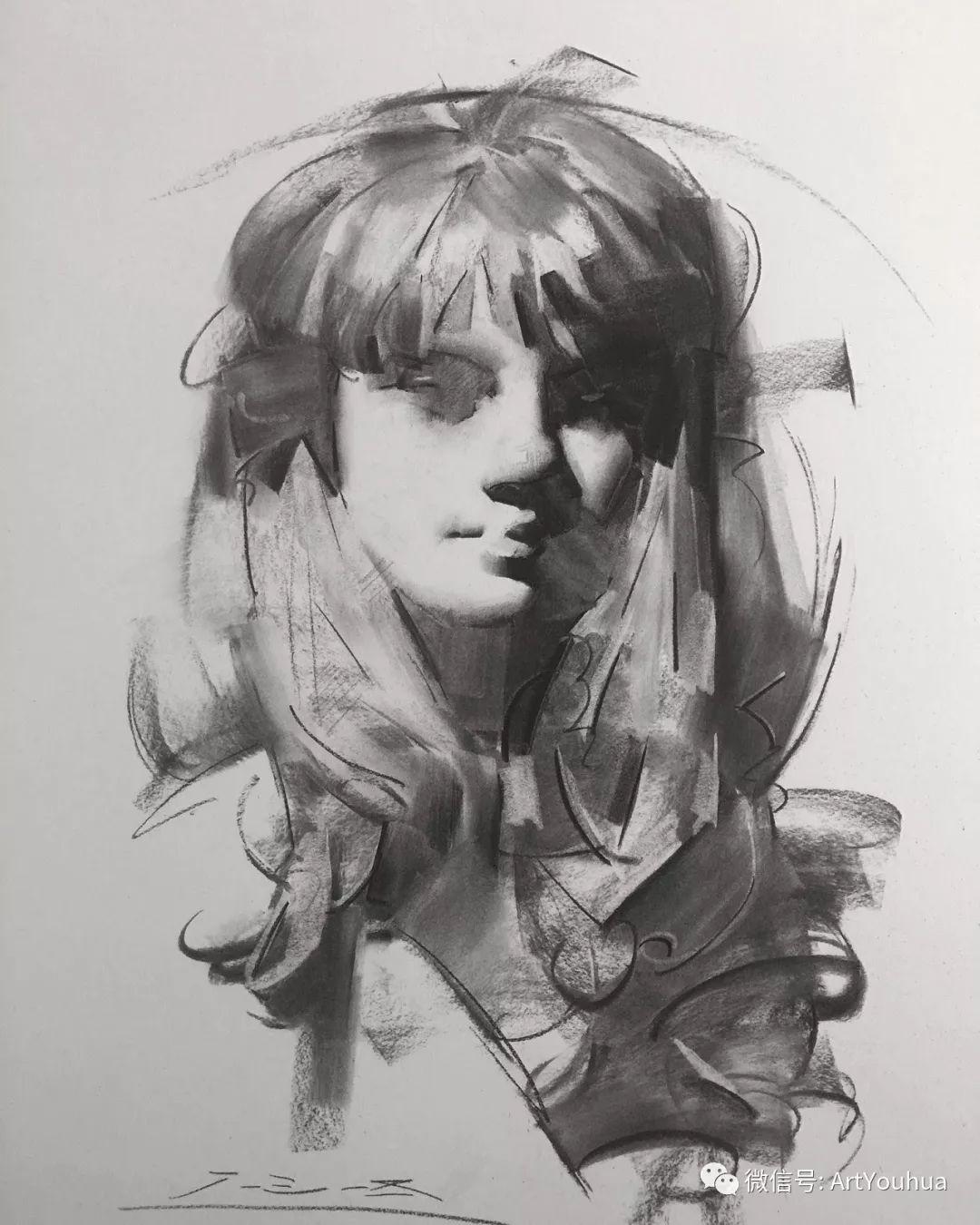 他的人物肖像绘画独具一格 还是位80后画家插图101