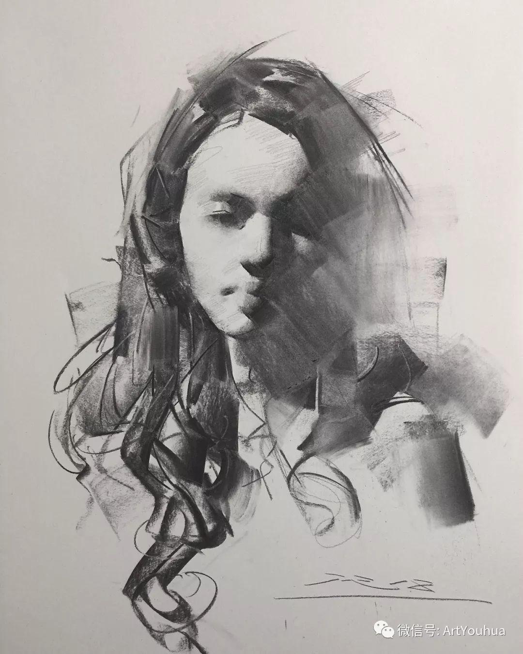 他的人物肖像绘画独具一格 还是位80后画家插图109